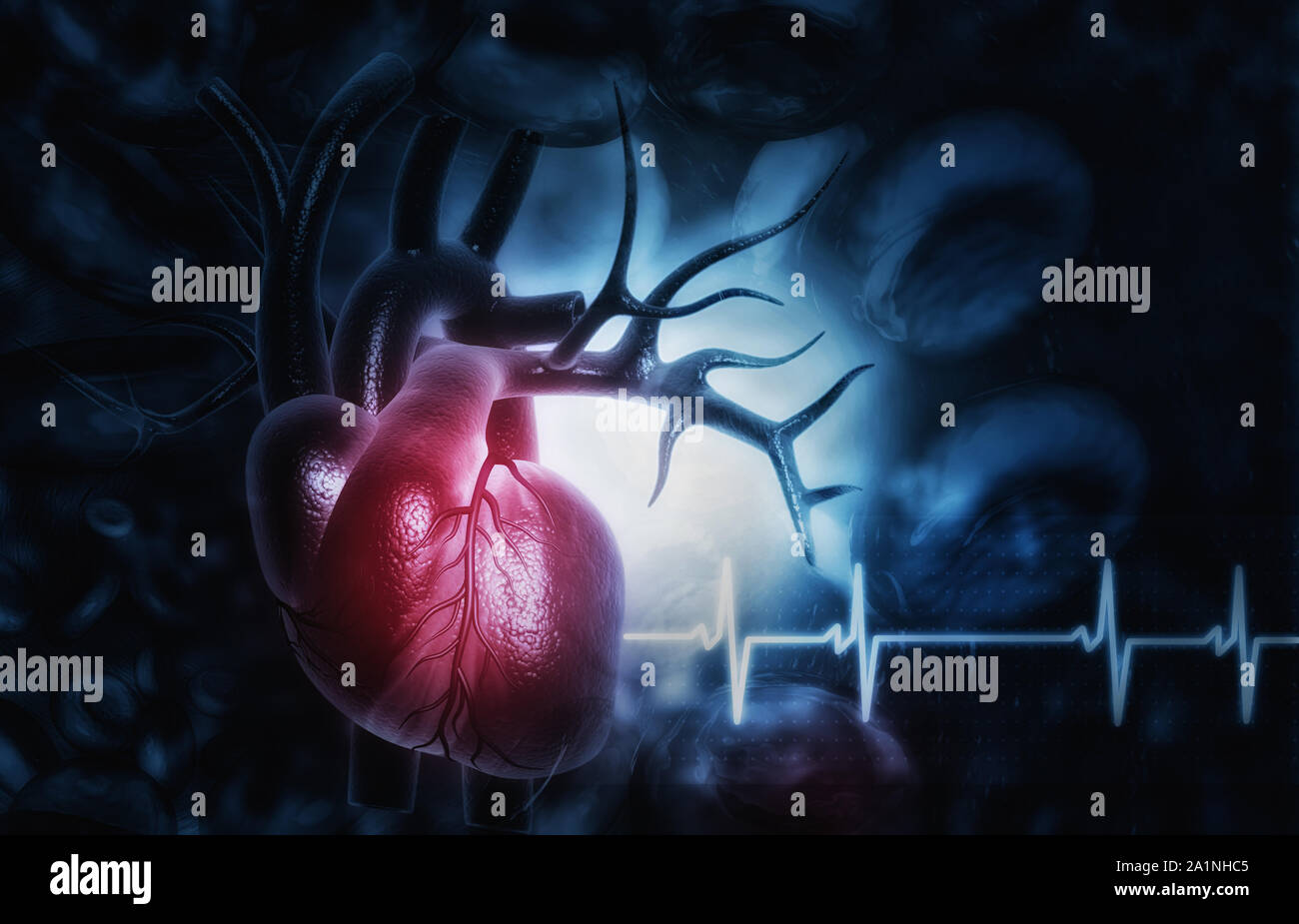 3d Illustration Of Abstract Medical Background With Human