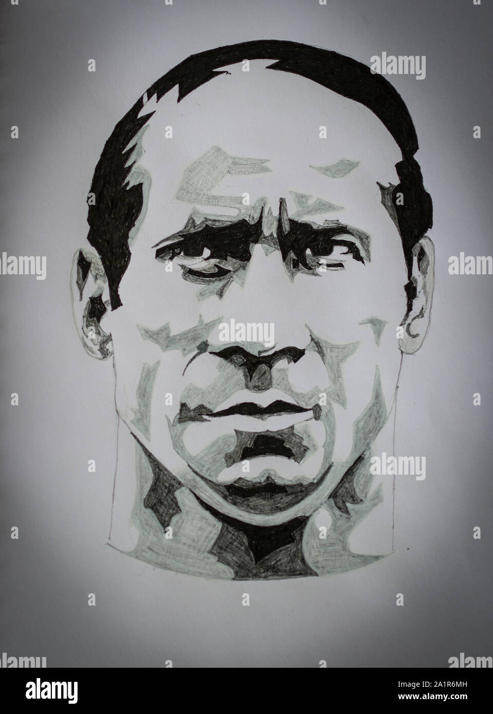 Pen And Ink Drawing Of Sir Bobby Charlton Manchester United And England Footballer Stock Photo Alamy