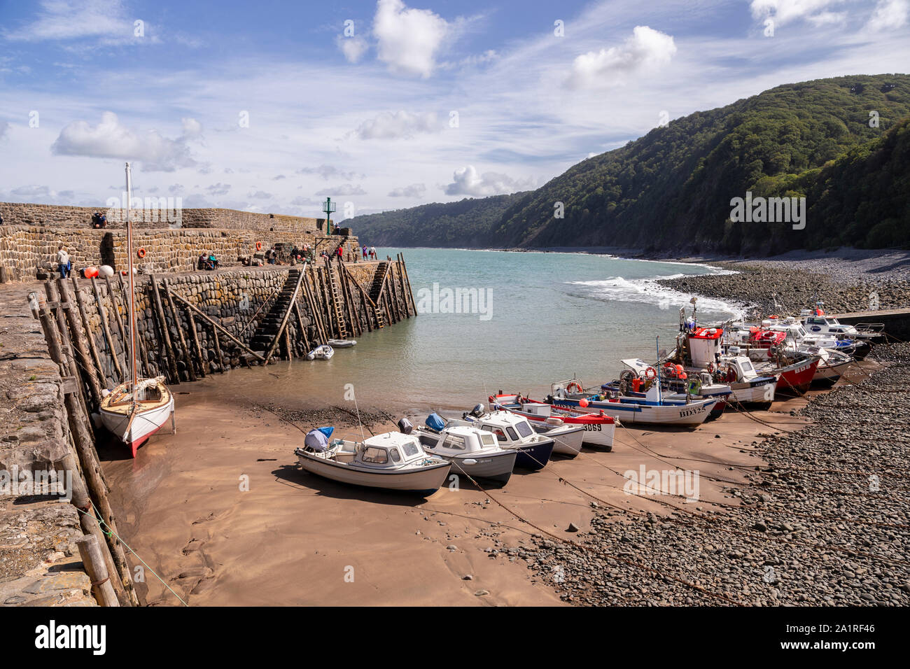 Clovelly harbour on the North Devon coast, England Stock Photo