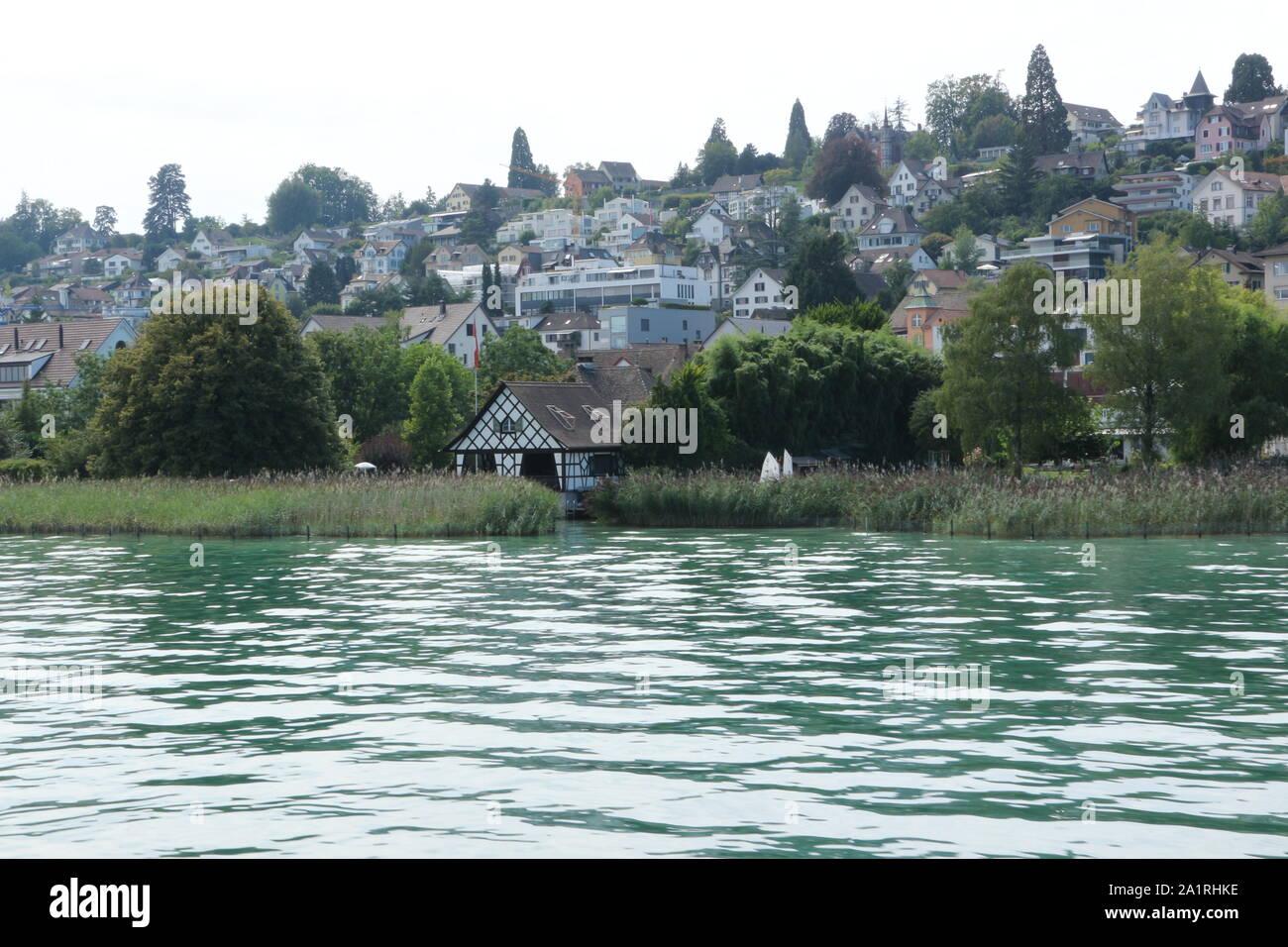 Impressionen vom Zürichsee in der Schweiz Stock Photo