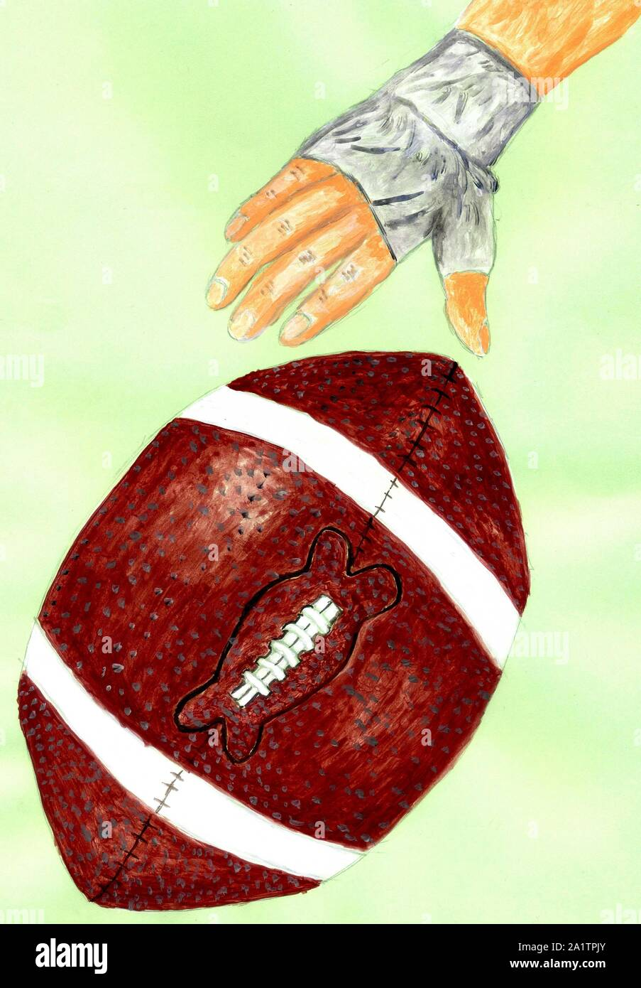 Grunge Sketch Of Rugby Ball Hand Drawn Illustration Stock Photo Alamy