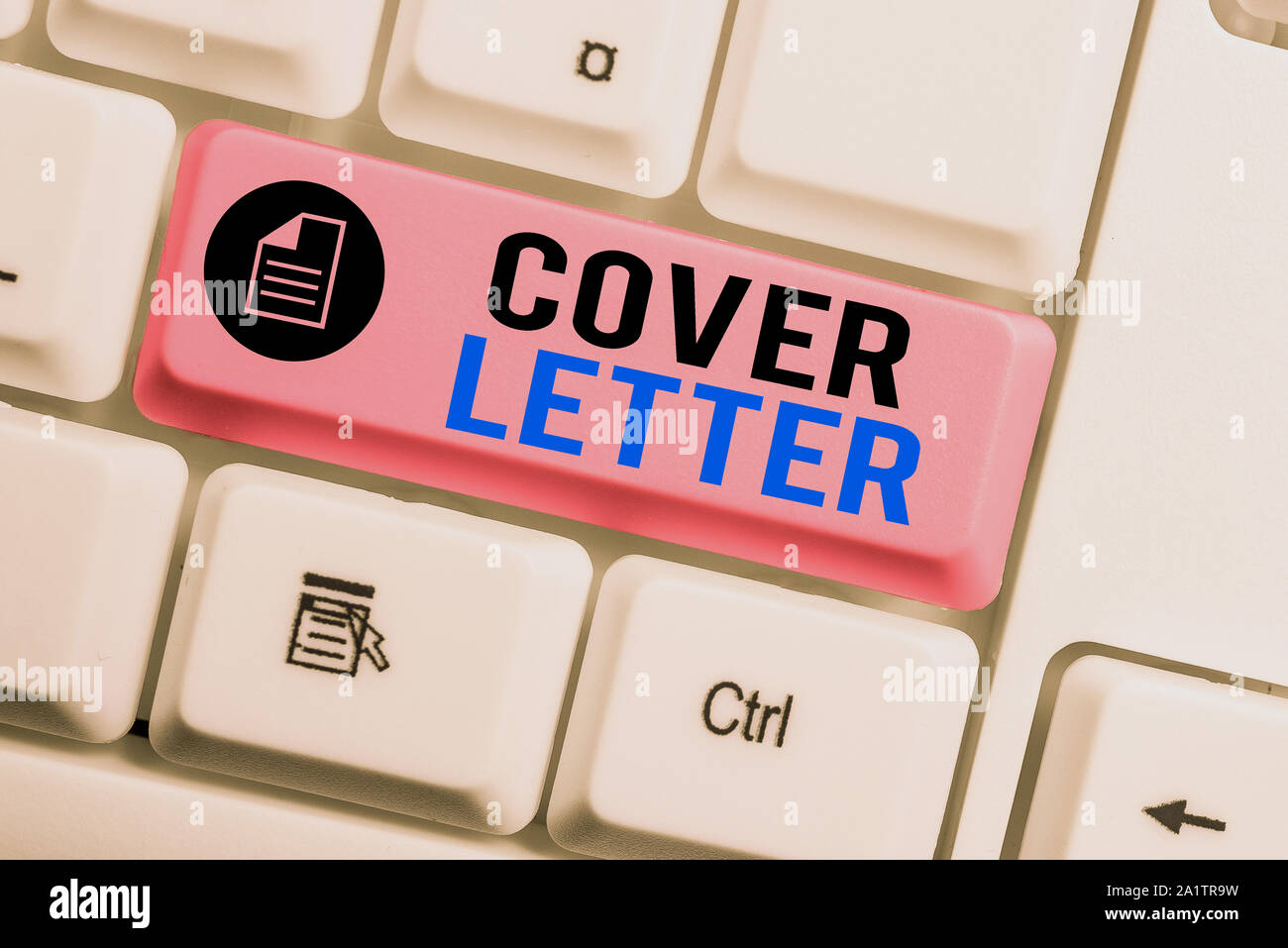 Word writing text Cover Letter. Business photo showcasing ...