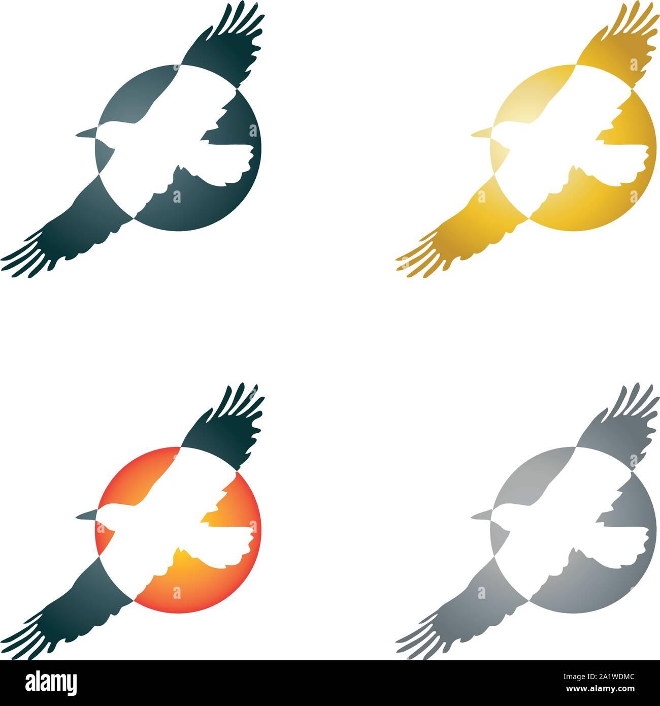 Bird in flight, bird, logo Stock Vector