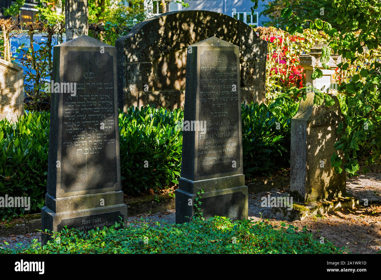 D-Luedinghausen, Stever, Muensterland, Westphalia, North Rhine-Westphalia, NRW, Old Jewish cemetery, graves, tombstones Stock Photo