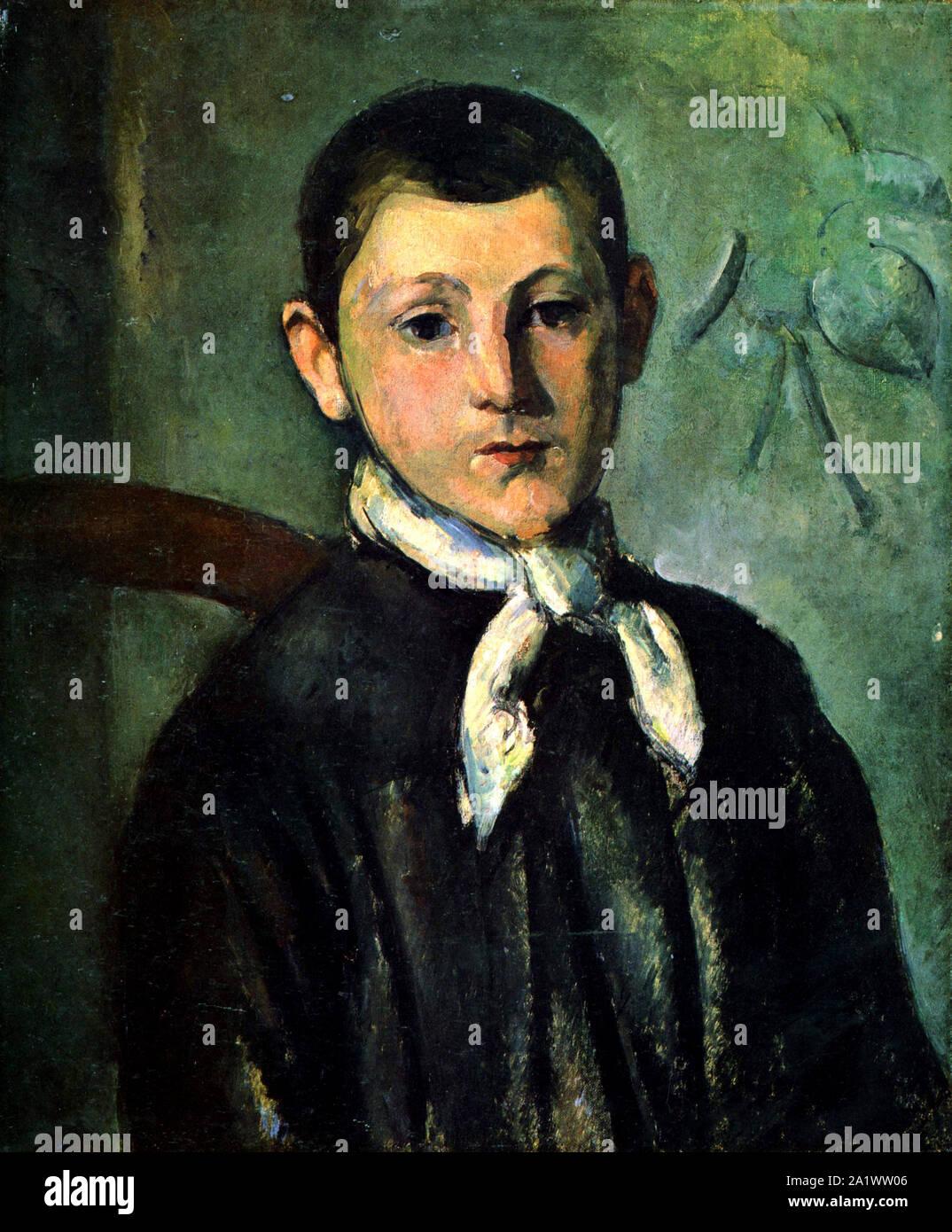 Portrait of Louis Guillaume by Paul Cézanne Stock Photo