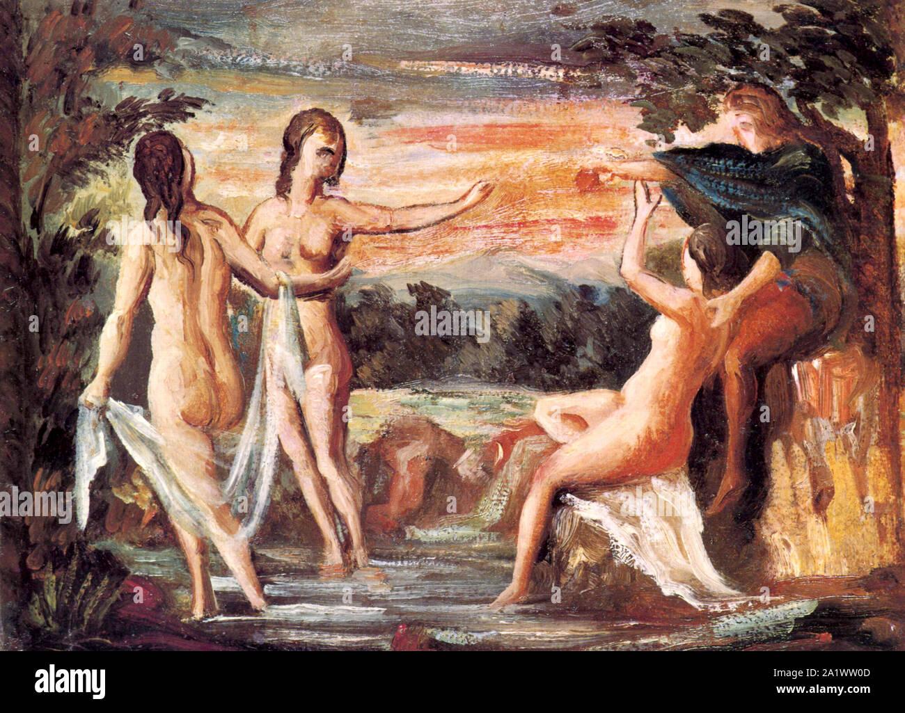 The Judgement of Paris by Paul Cezanne 1864 Stock Photo