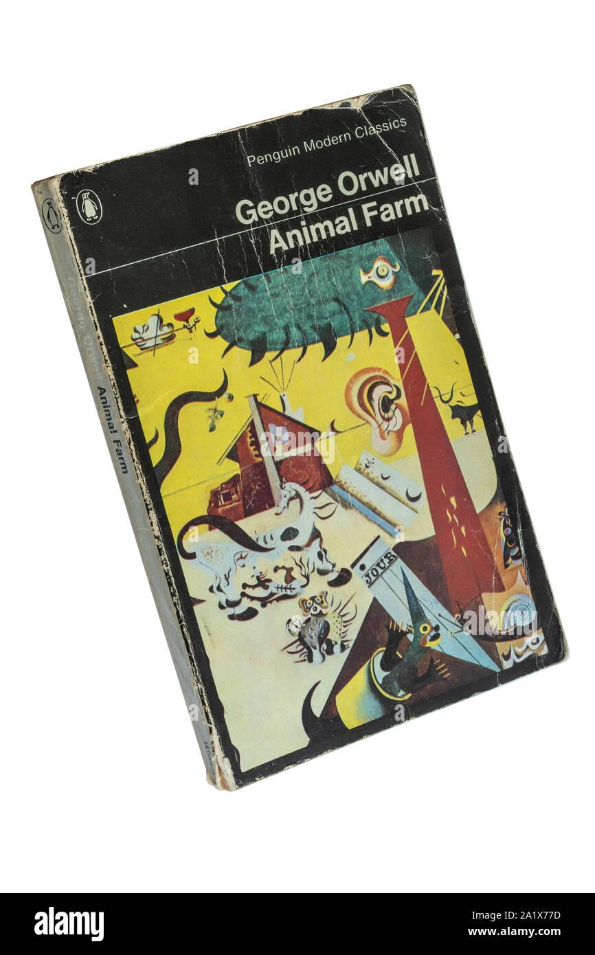Animal Farm Paperback Book A Novel By George Orwell Stock Photo Alamy