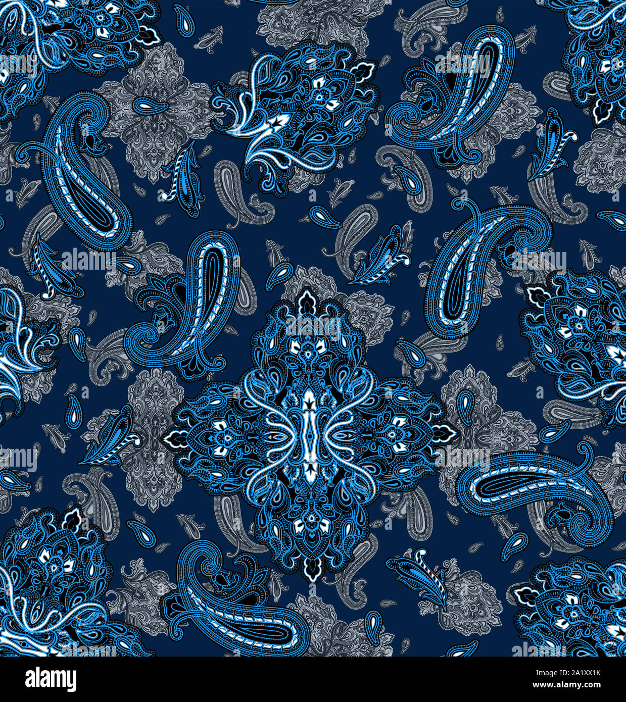 Seamless ethnic paisley pattern. Fashion print for clothes