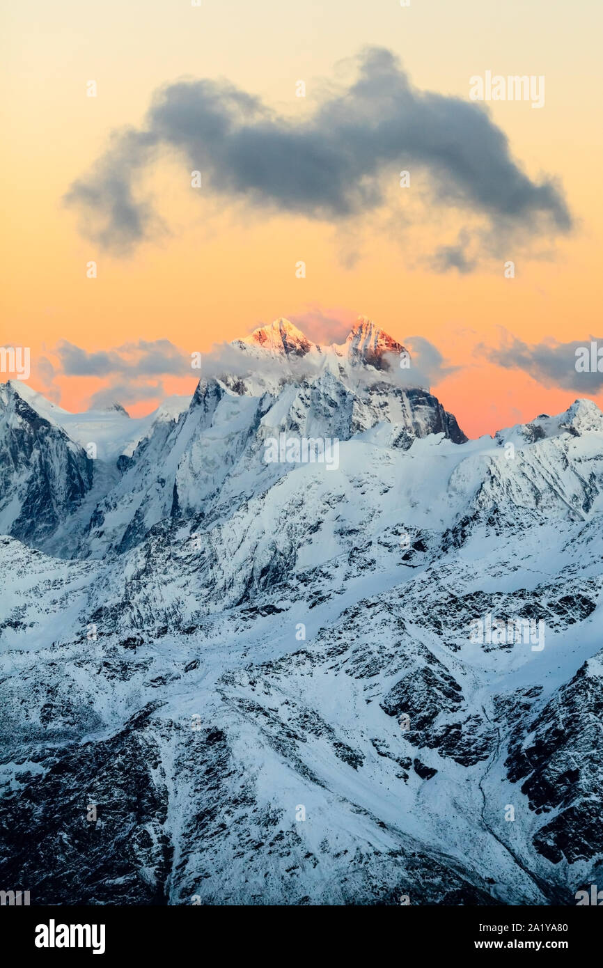 Mountain Landscape In Autumn Or Winter In Caucasus Mountains