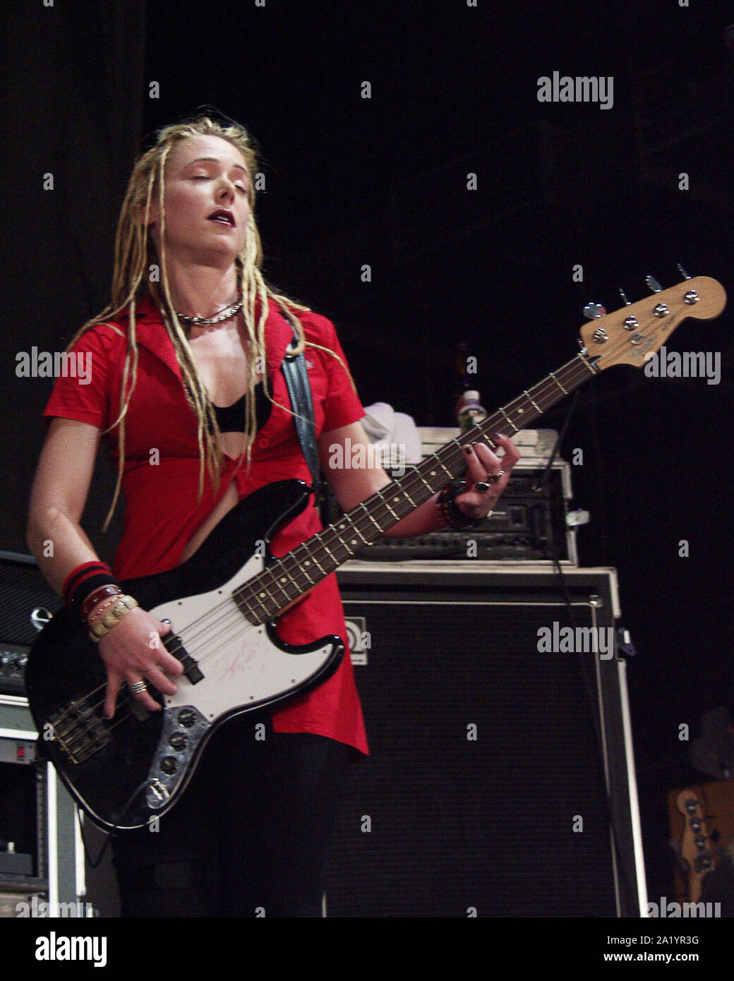August 8 Leah Randi Of Abandoned Pools Performs At Lakewood Amphitheatre In Atlanta On August 8 2002 Credit Chris Mckay Mediapunch Stock Photo Alamy