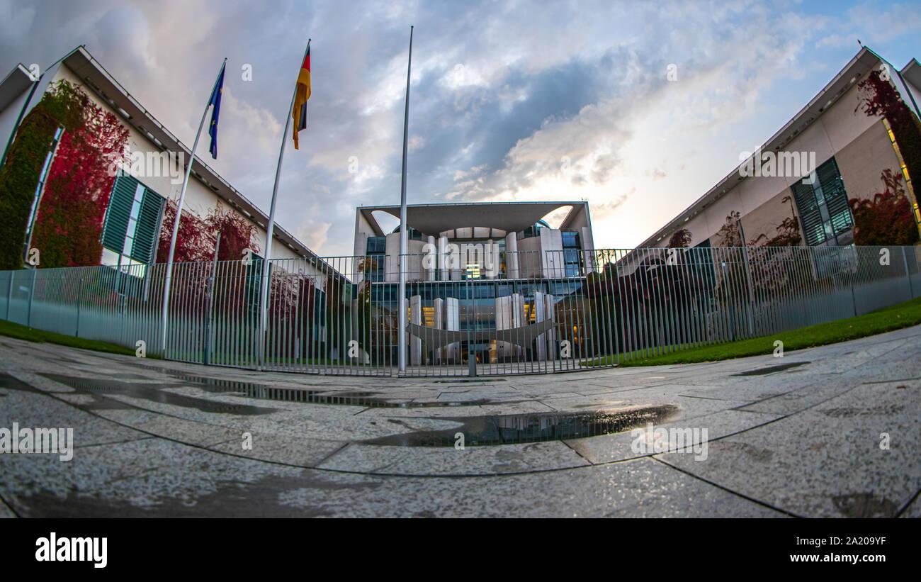 Berlin, Germany - September 28, 2019 - The Bundeskanzleramt (Federal Chancellery) of Germany in Berlin Stock Photo