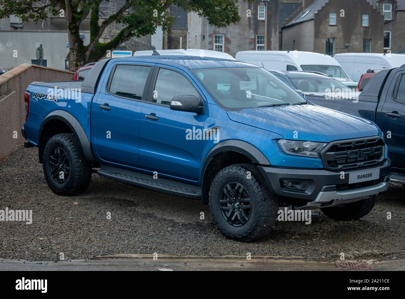 2019 Model Blue Ford Ranger Raptor Super Pick Up Truck W R Tulloch Castle Street Kirkwall Mainland The Orkney Isles Scotland United Kingdom Front Dri Stock Photo Alamy