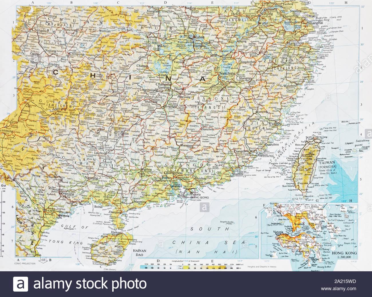 Historical Map Of South China Sea Hong Kong And Taiwan