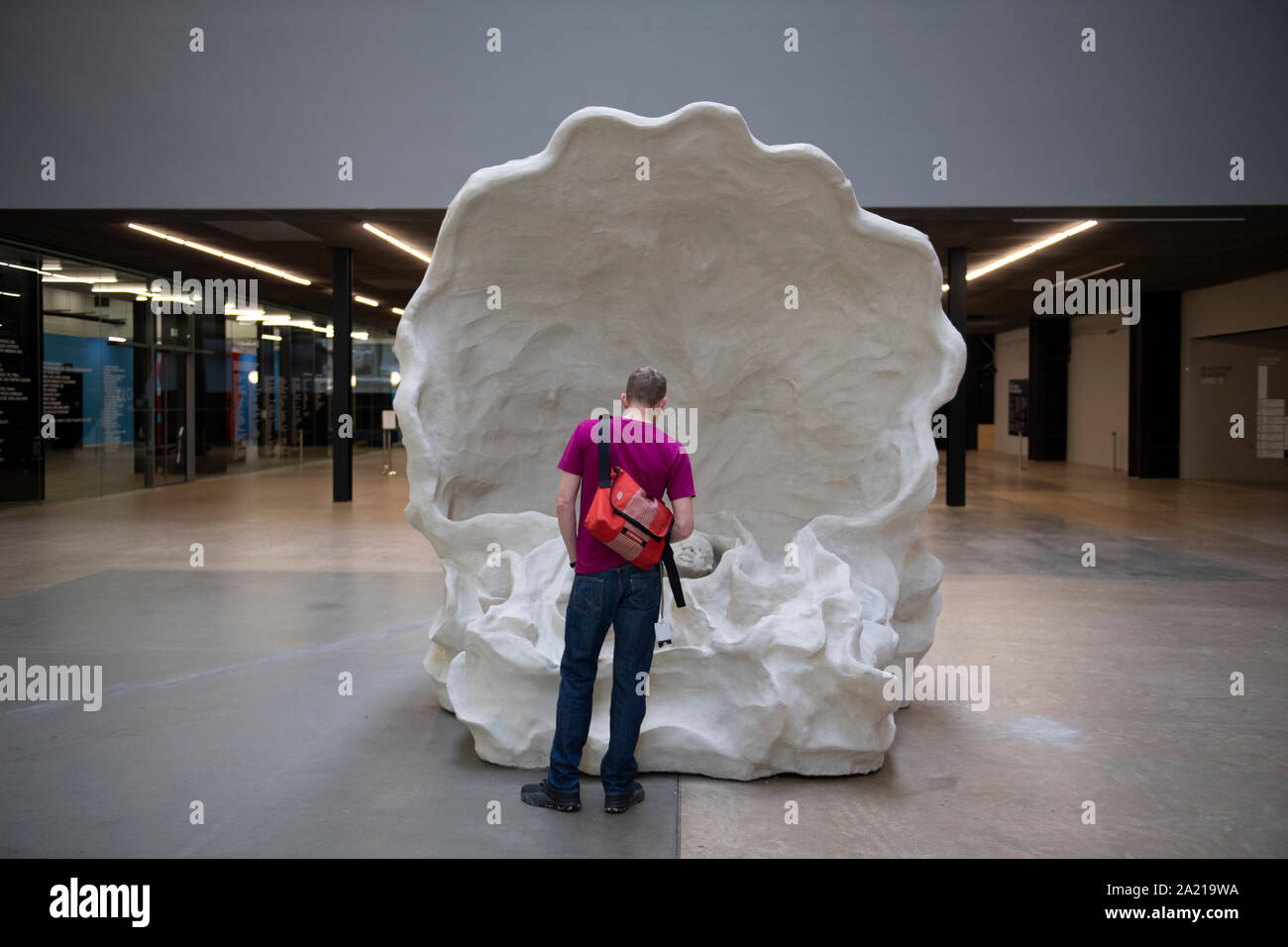 Tate Modern, London, UK. 30th September 2019. A monumental new sculptural work opens within the iconic surrounds of Tate Modern's Turbine Hall, the spectacular installation devised by American artist Kara Walker for the 2019 Hyundai Commission. Credit: Malcolm Park/Alamy Live News. Stock Photo