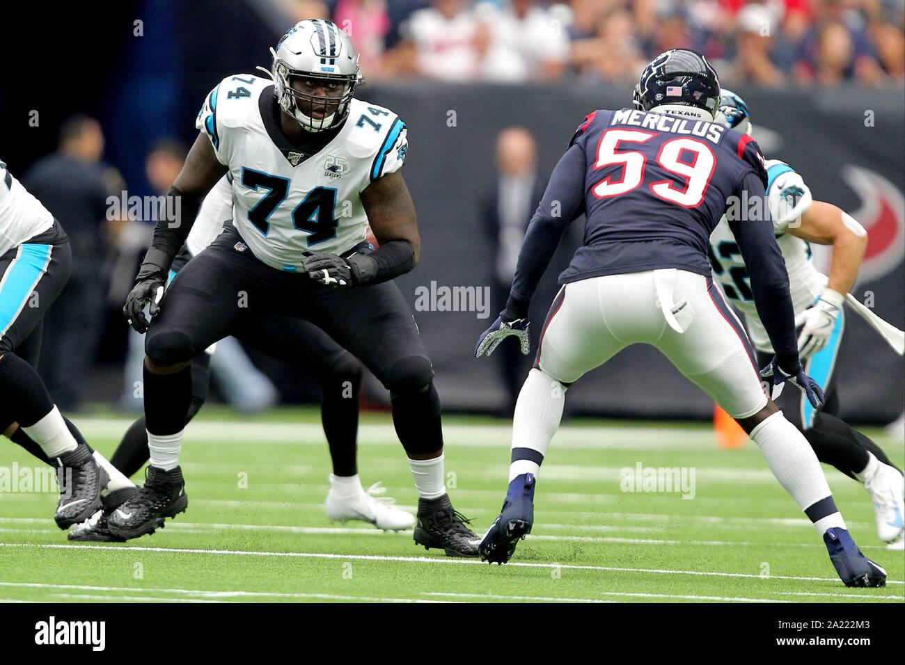 Carolina Panthers #74 Greg Little Draft Game Jersey - Black