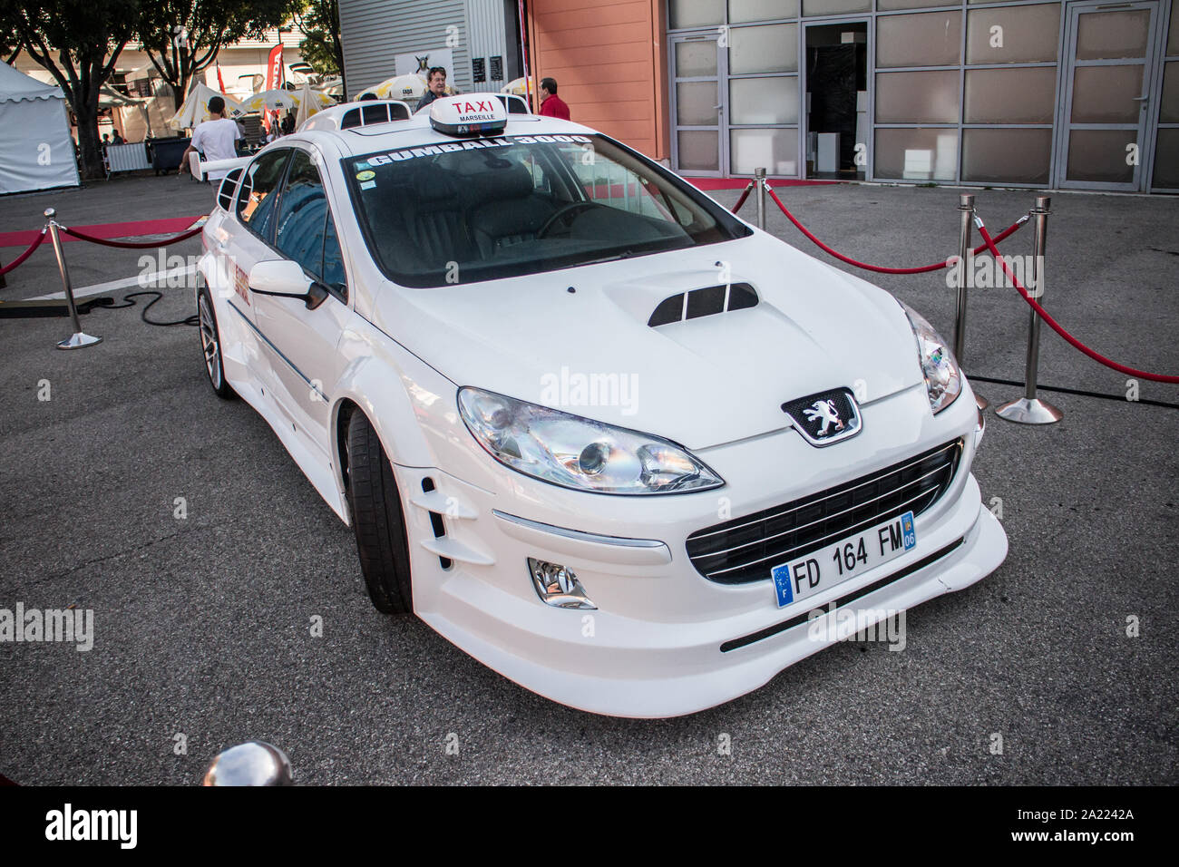 Foire Internationale De Marseille 2019 The Peugeot 407 Star Of The Films Taxi 1 2 Stock Photo Alamy