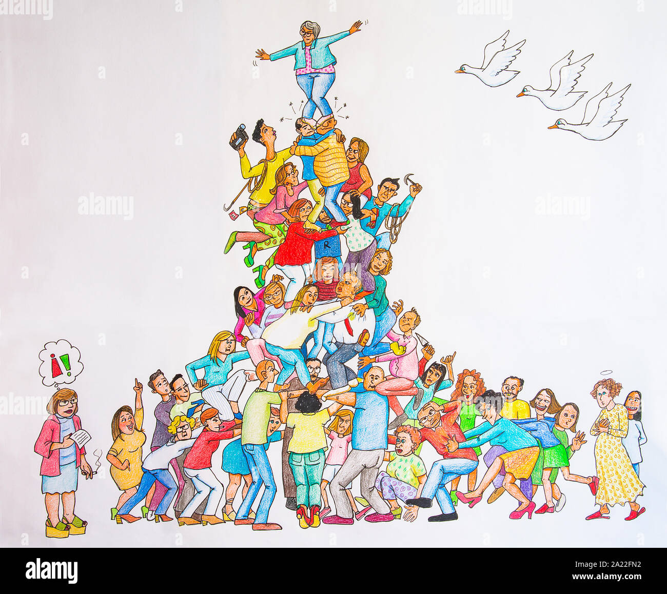 Human Pyramid High Resolution Stock Photography And Images Alamy
