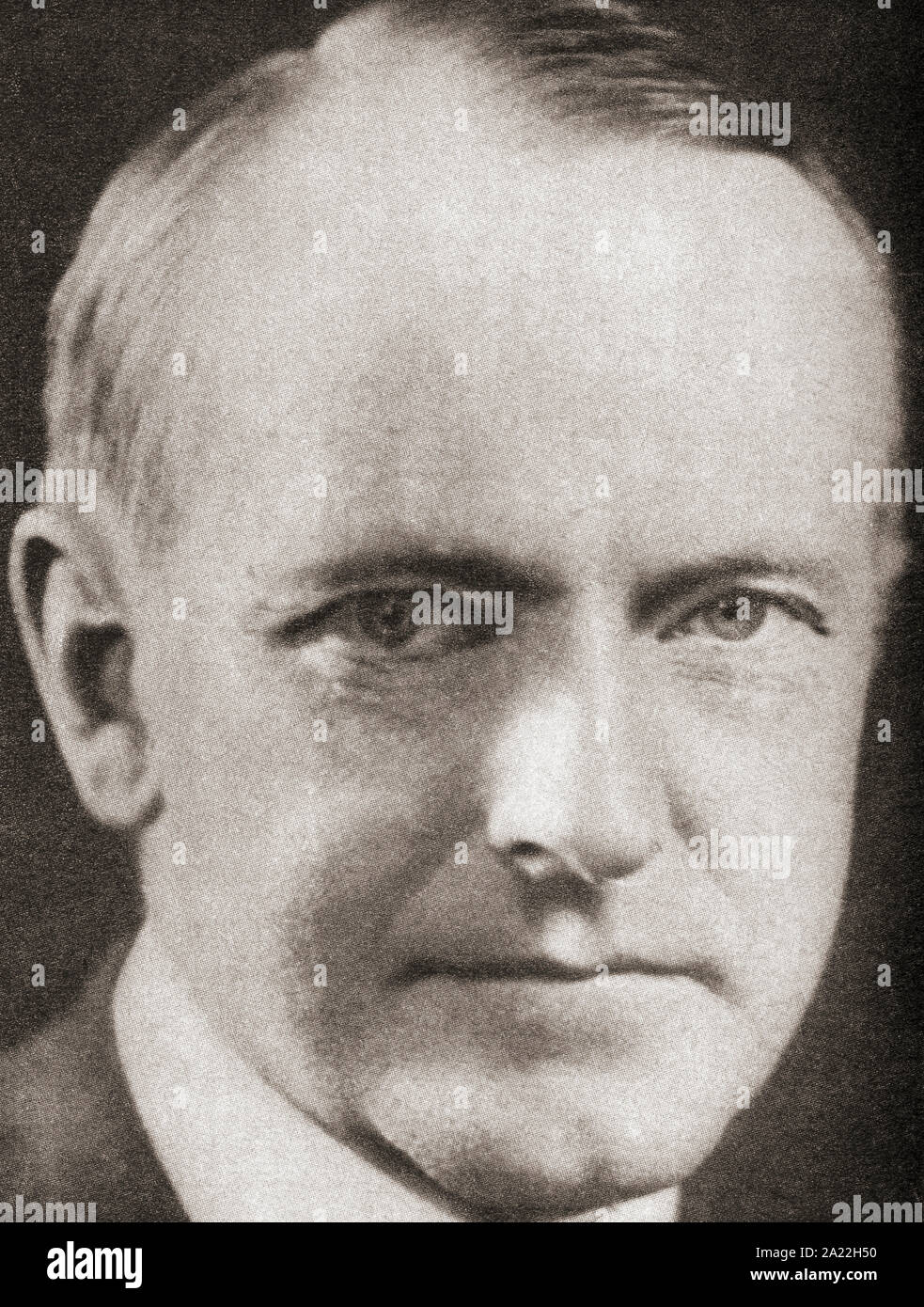 Calvin Coolidge, 1872 – 1933.  American politician, lawyer and 30th president of the United States of America.  From The Pageant of the Century, published 1934. Stock Photo