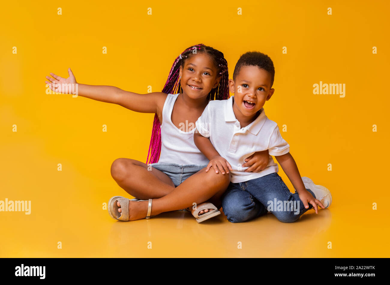 Sensational Cute Little Black Girl Cuddling Her Adorable Baby Brother Sitting Schematic Wiring Diagrams Amerangerunnerswayorg