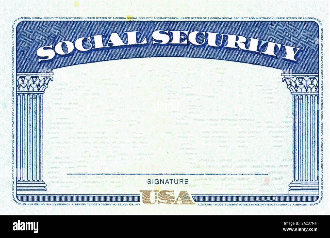 Blank Social Security Card Isolated High Resolution Stock Pertaining To Blank Social Security Card Template