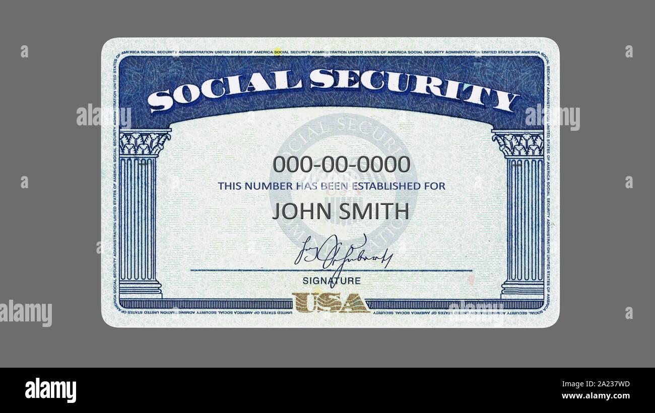 Blank Social Security Card Isolated High Resolution Stock In Social Security Card Template Download