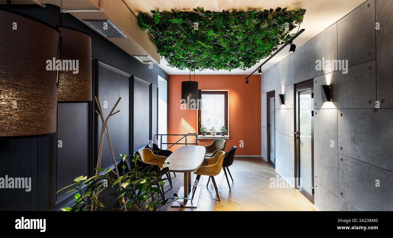 Eco architecture. Natural interior in modern cafe with ... on natural house paint colors, natural lighting interiors, natural cabin interiors,