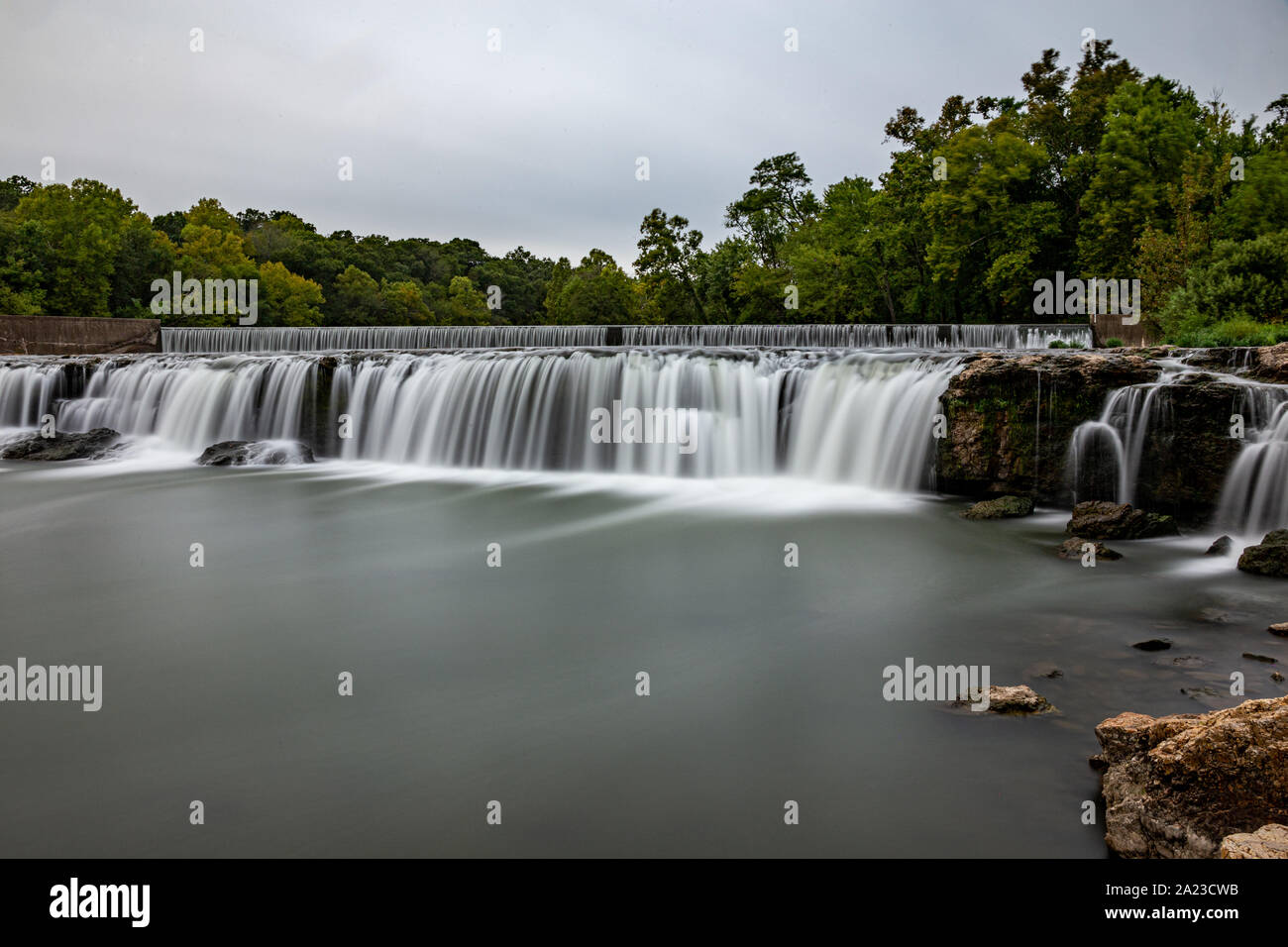 Grand Falls waterfall in Joplin, Missouri Stock Photo