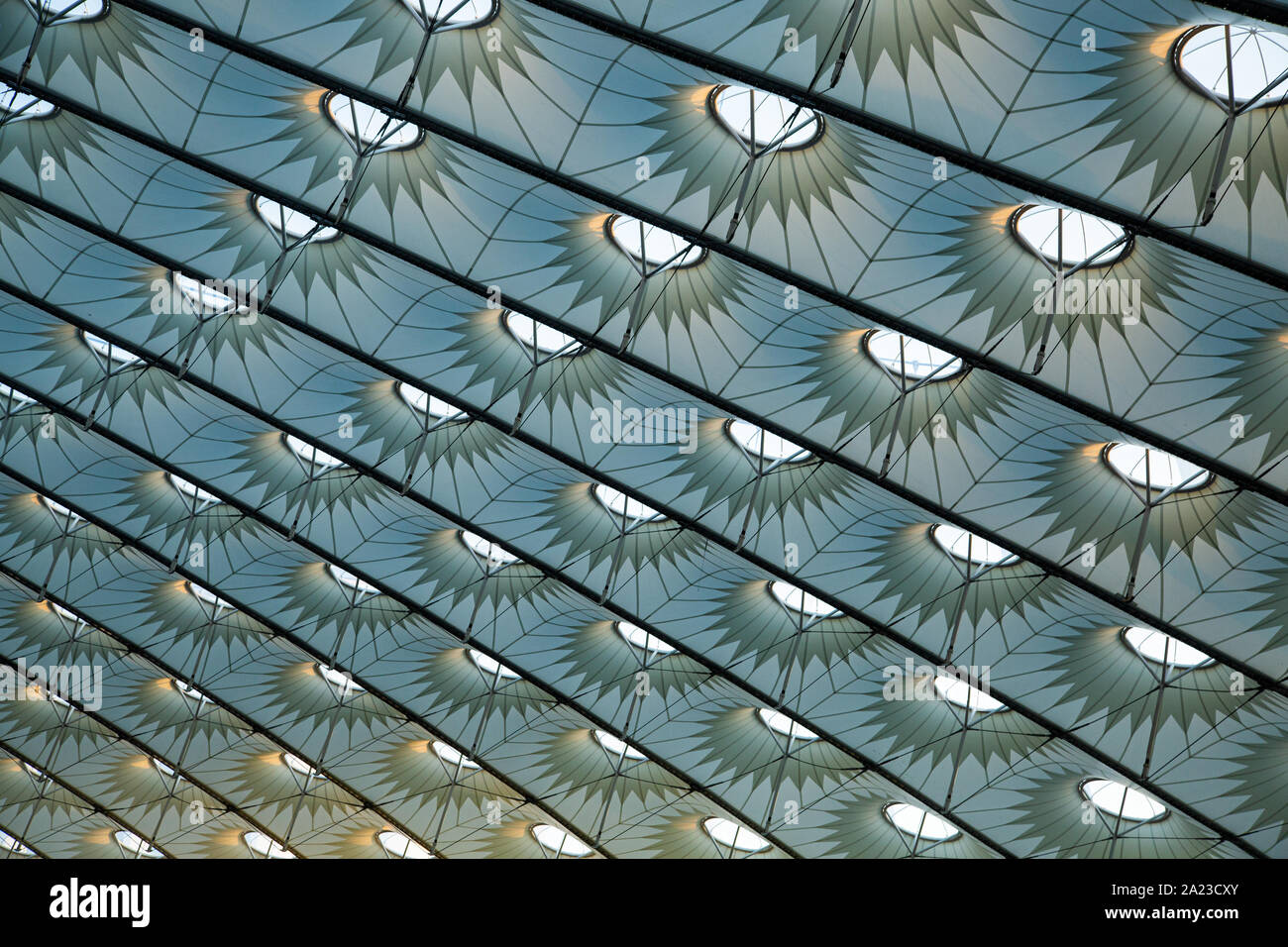 Stadium Roof Design With Geometric Shapes Abstract Background Building Structure Stock Photo Alamy