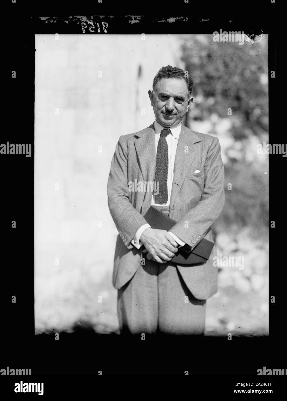 Palestine disturbances 1936. Nuri Pasha Es-Said, Foreign Minister of Iraq, arbitrator for the Palestine cause Stock Photo