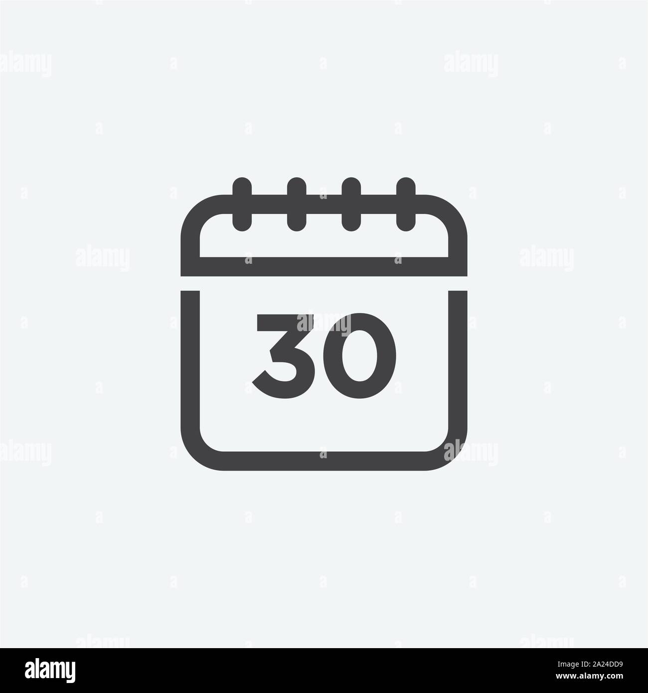 Calendar Icon in trendy flat style isolated on grey background. Calendar symbol design, logo, app, UI. Vector illustration Stock Vector