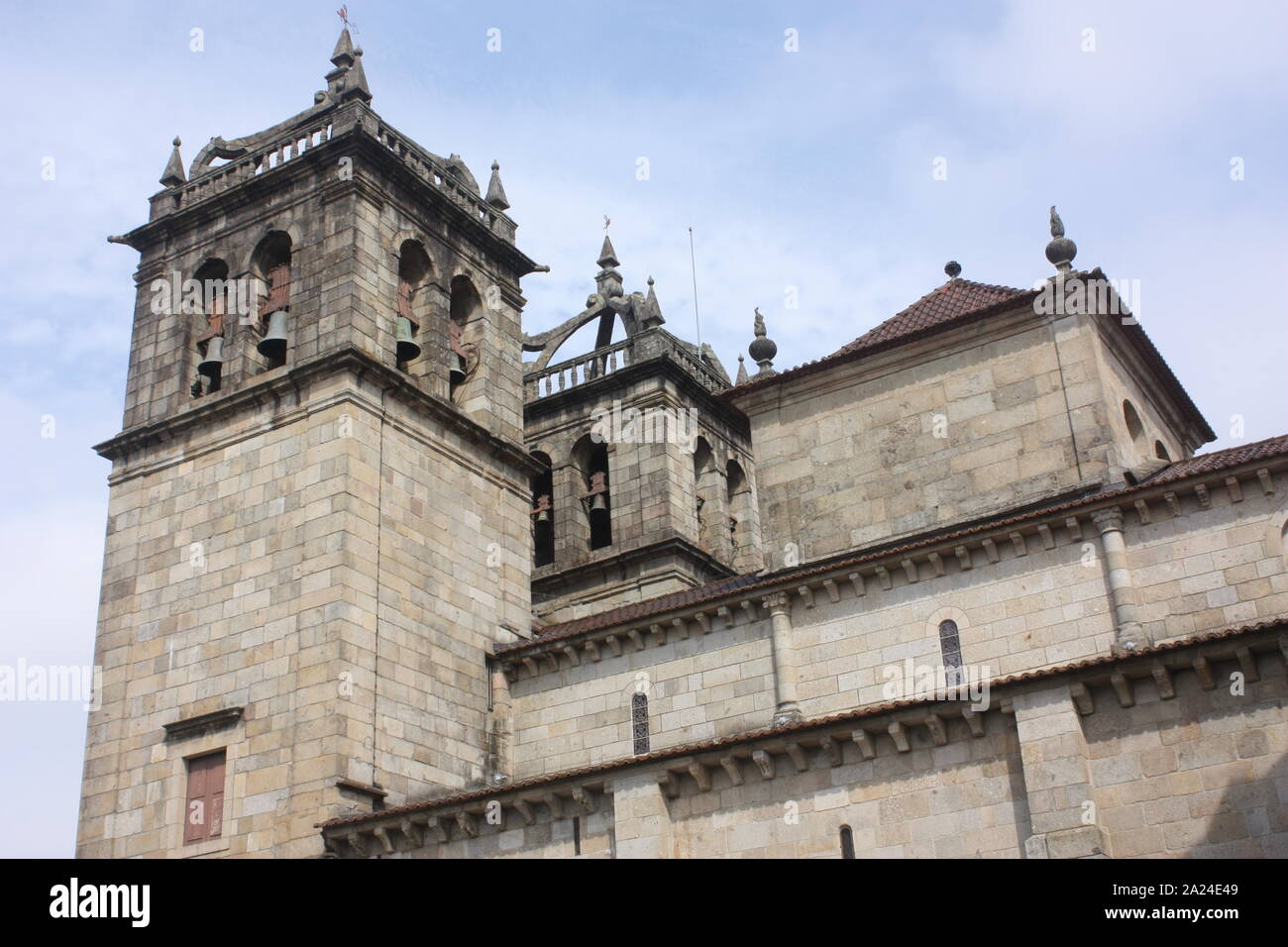 Portugal - The cathedral or Se in Braga Stock Photo