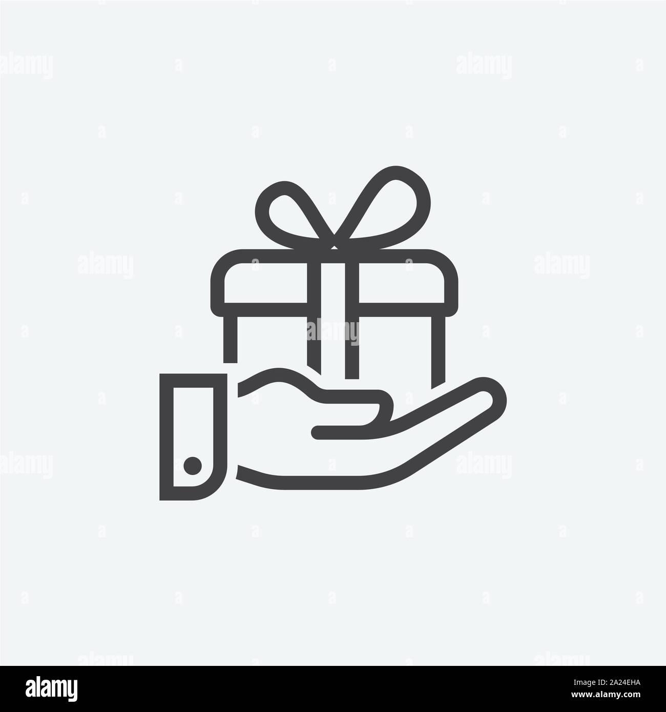 Gift Box Linear Icon Logo Design Gift Box Icon Vector Illustration Stock Vector Image Art Alamy