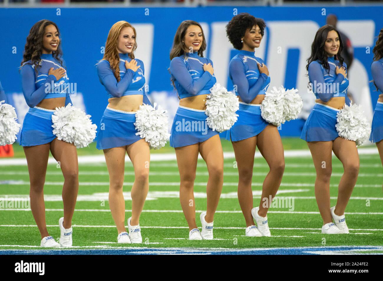 Detroit Mi September 29 Lions Cheerleaders During The