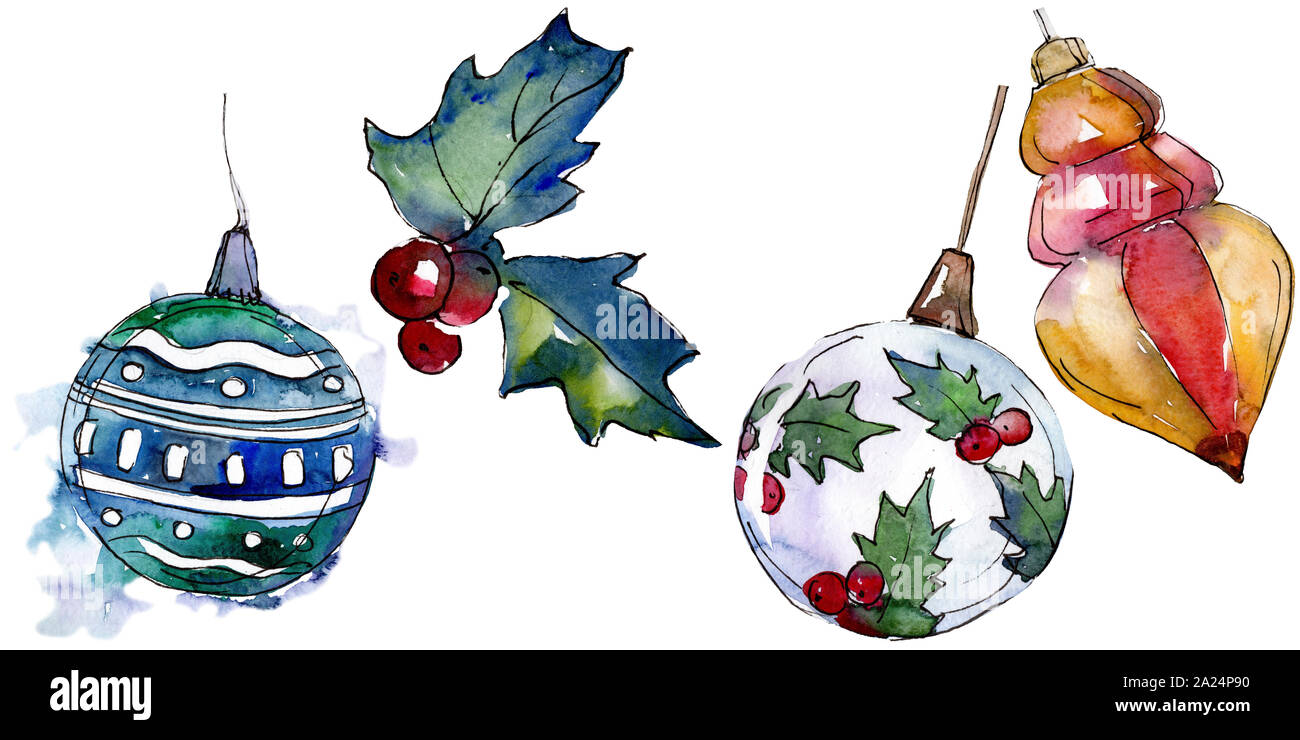 Christmas And Happy Holidays 2020 Christmas winter holiday symbol isolated. 2020 year, happy