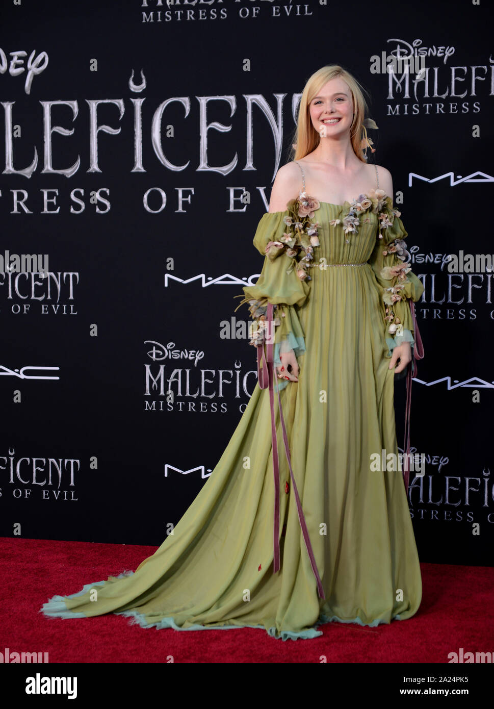 Los Angeles Usa 30th Sep 2019 Elle Fanning At The World