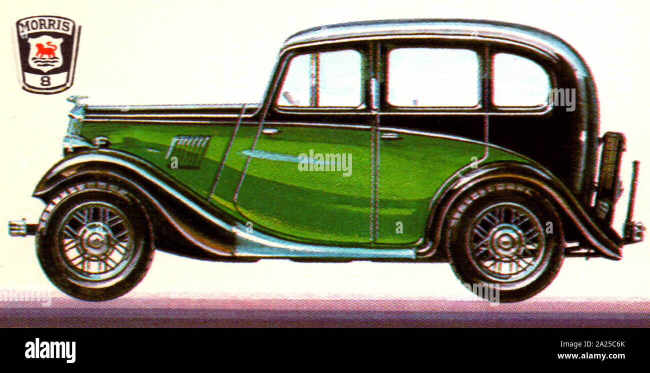 1934 Morris 8, 918 cc. The Morris Eight is a small family car produced by Morris Motors from 1935 to 1948 Stock Photo