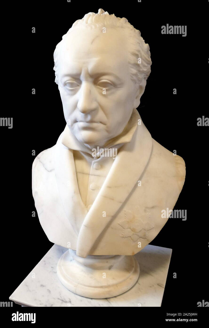 Bust of Johann von Goethe (1749 – 1832), German writer and statesman. Sculpted in 1823 by Johann Gottfried Schadow (1764 – 1850); German Prussian sculptor. Stock Photo