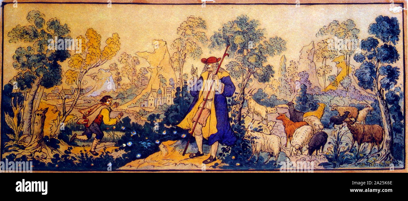 Landowner 1930; by Ivan Ivanovich Zubkov 1883–1938, one of the early leading masters of Russian Palekh miniature painting Stock Photo