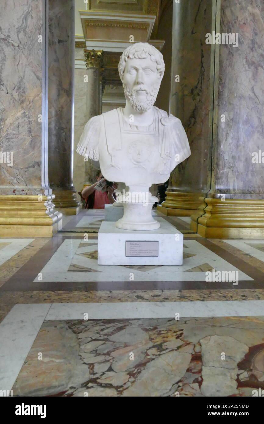Marble bust of lucius aelius caesar (101-138) the father of emperor lucius verus Stock Photo