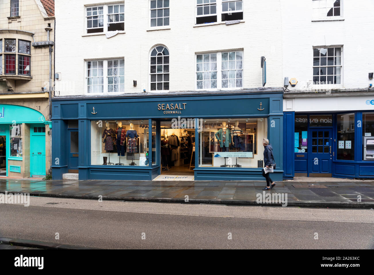 Seasalt clothing store in Wells High Street, Somerset, UK Stock Photo
