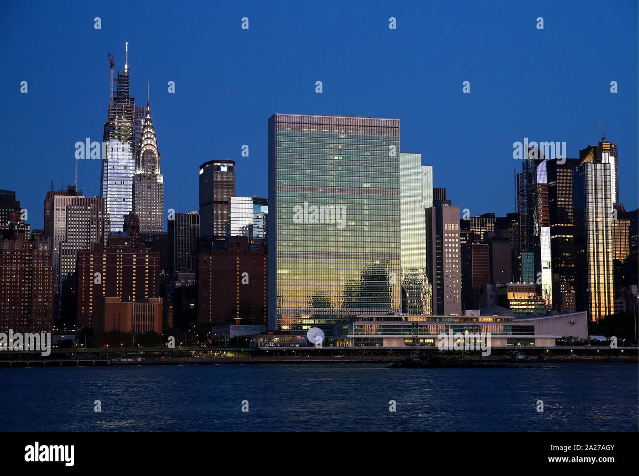 New York City, USA. 29th Sep, 2019. NEW YORK CITY, USA - SEPTEMBER 28, 2019: A view of the United Nations (UN) headquarters. Valery Sharifulin/TASS Credit: ITAR-TASS News Agency/Alamy Live News Stock Photo