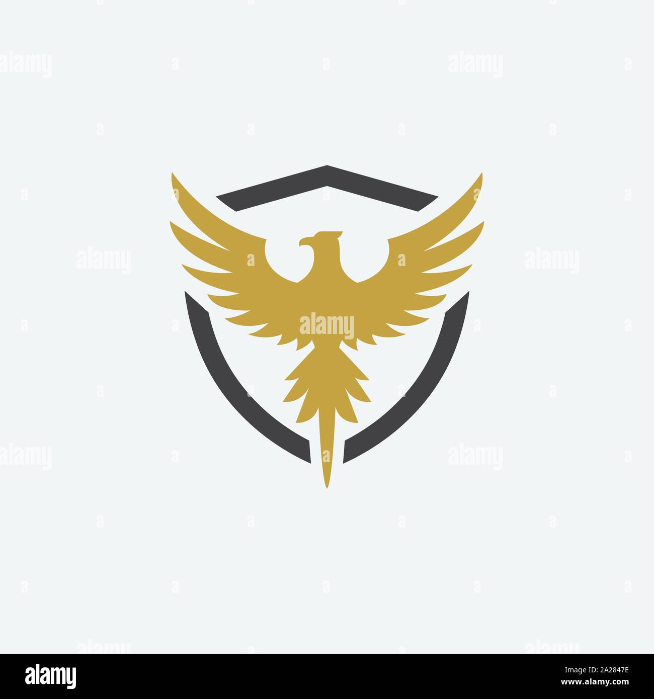 Eagle Shield Logo High Resolution Stock Photography And Images Alamy