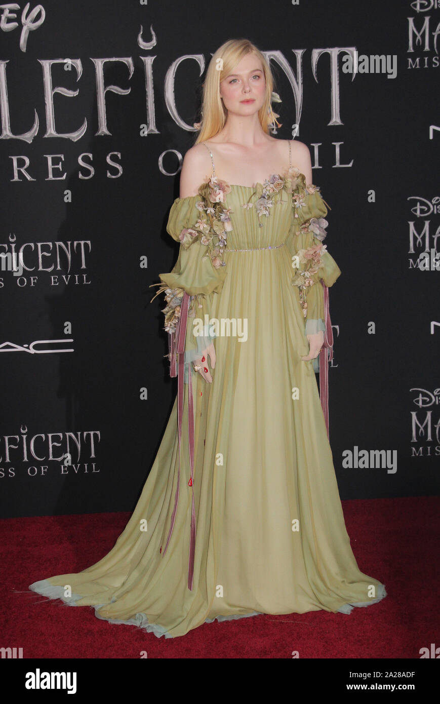 Elle Fanning 09 30 2019 The World Premiere Of Maleficent