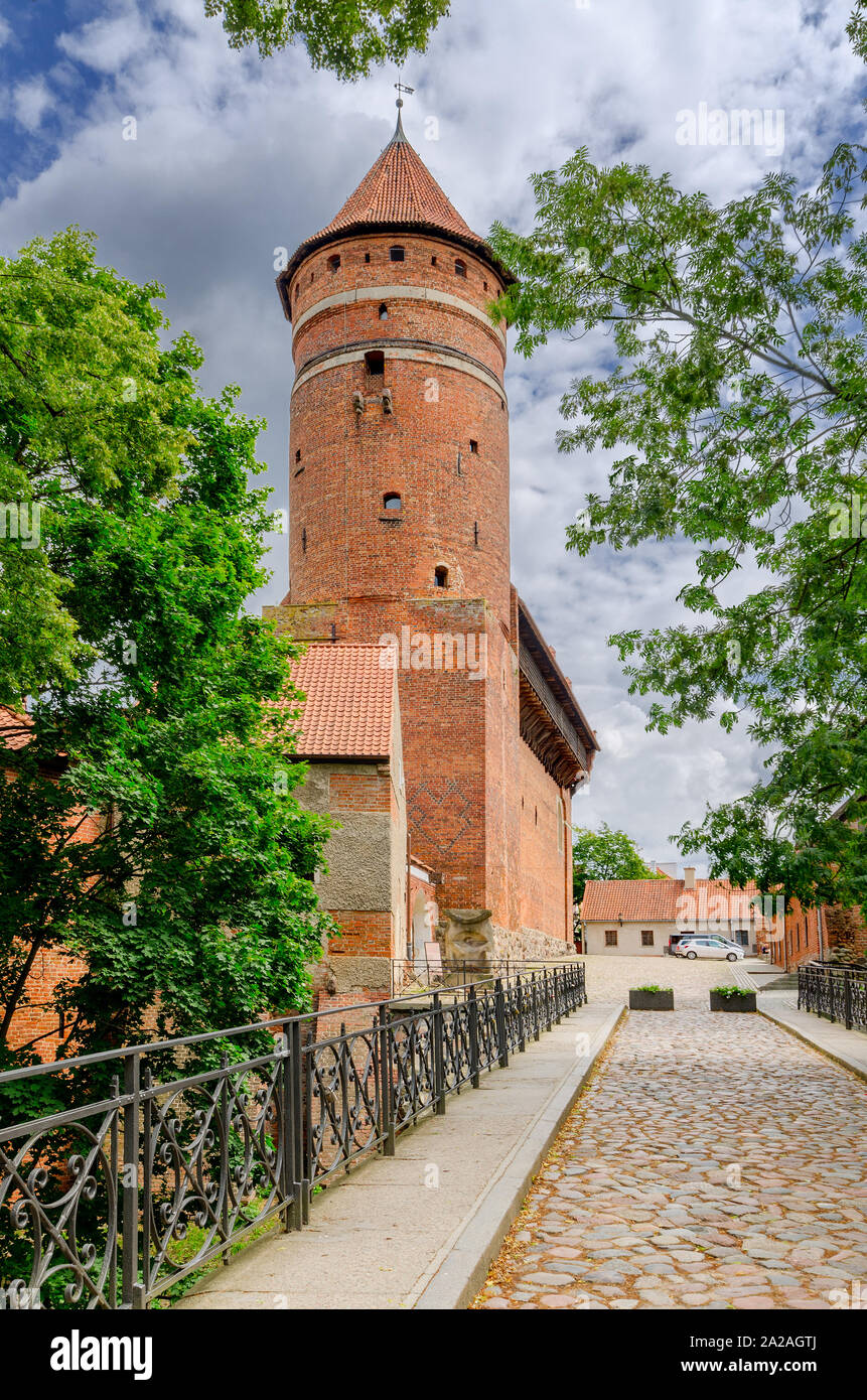 Olsztyn (ger.: Allenstein), Warmian-mazurian province, Poland. 14th cent. gothic castle, former seat of the prince-bishop of Warmia. Stock Photo