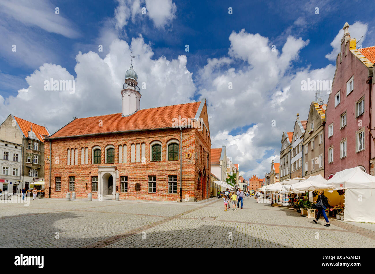 Olsztyn (ger.: Allenstein), Warmian-mazurian province, Poland. The old townhall on the Old Town Marketplace Stock Photo