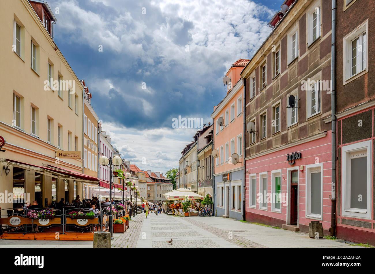 Olsztyn (ger.: Allenstein), Warmian-mazurian province, Poland. Prosta street in the Old Town district. Stock Photo