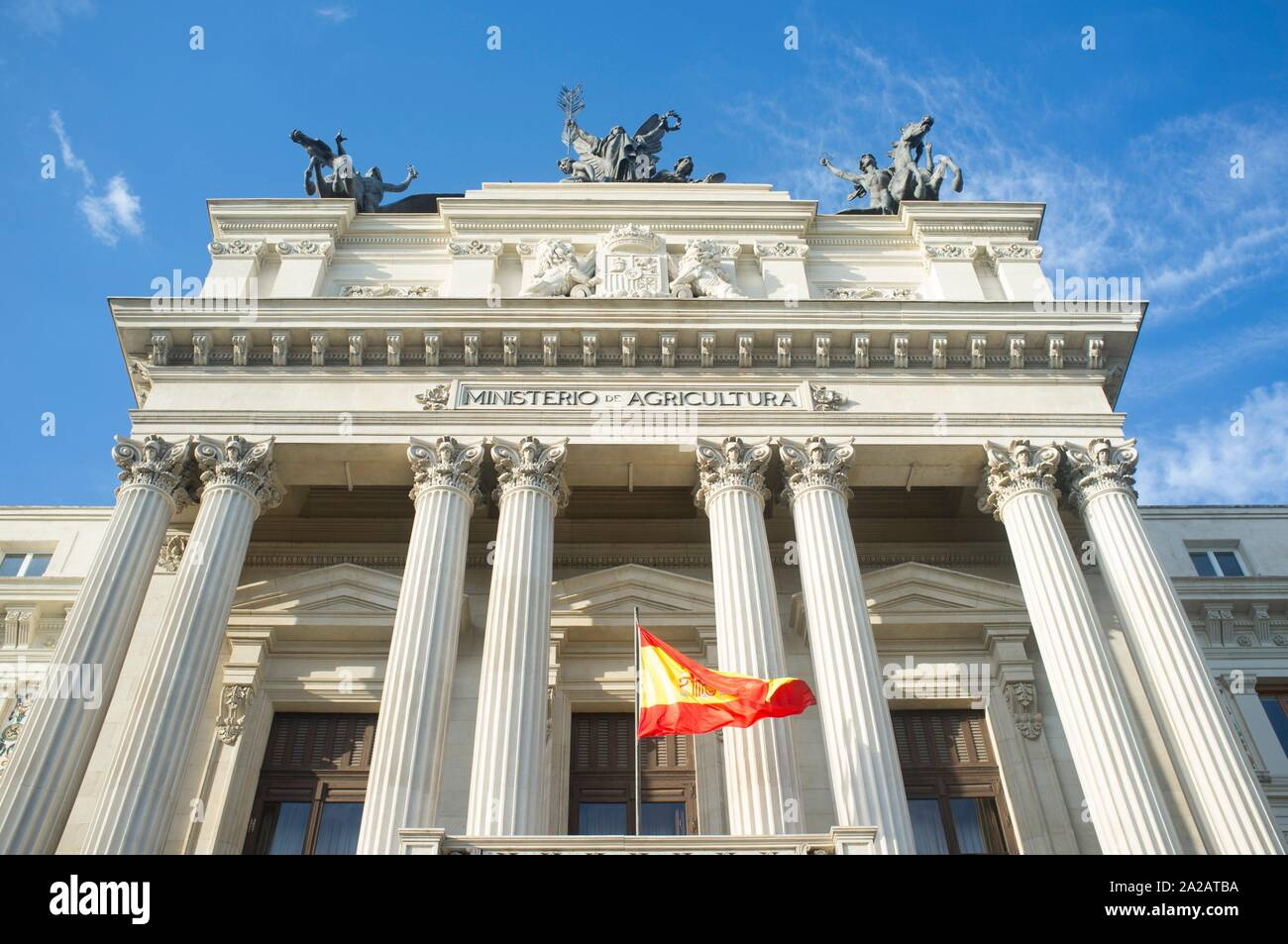 Ministry of Agriculture Building. Spanish Government Department. Madrid is the capital of Spain. Stock Photo