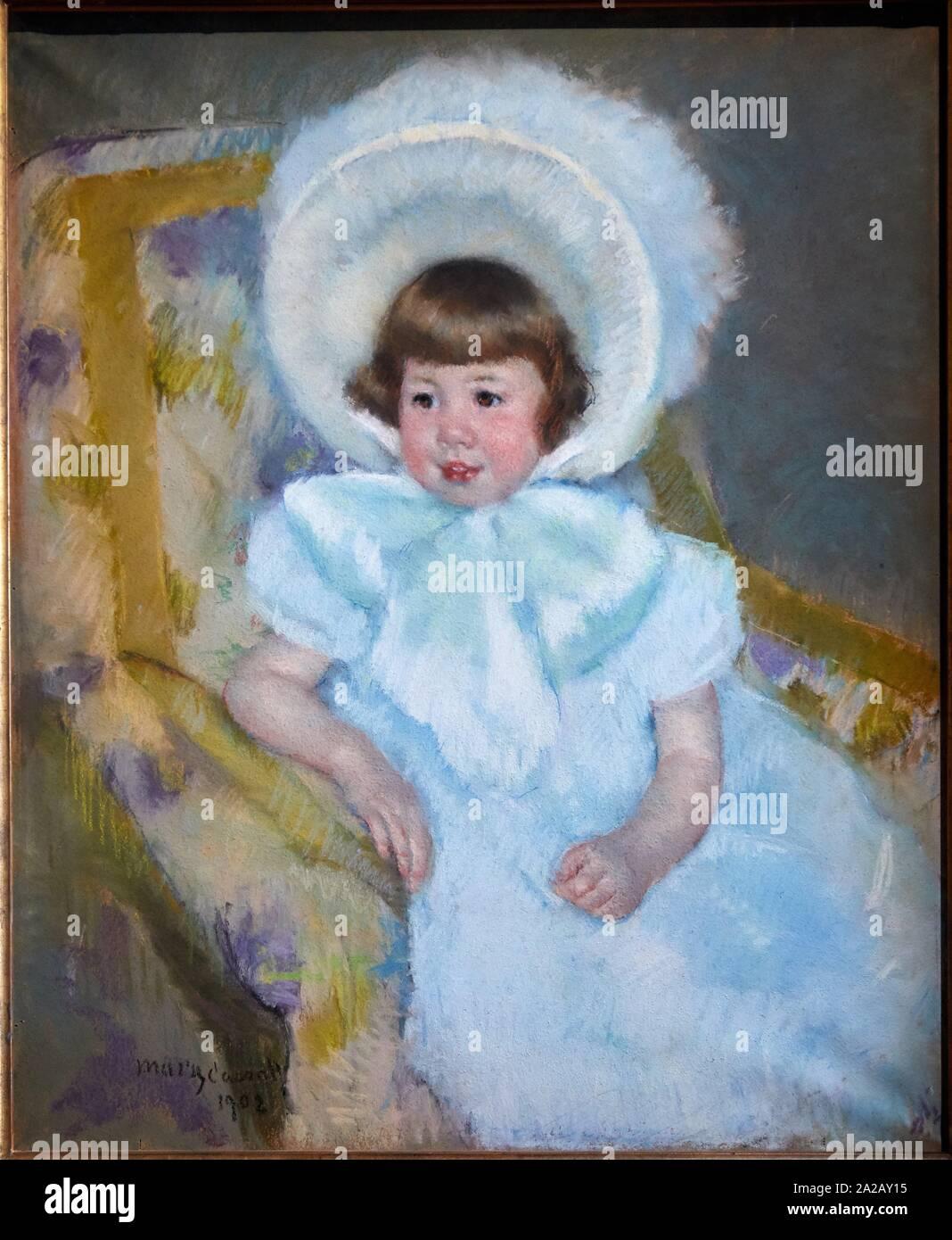 """""""""""""""Portrait de Louise-Aurore Villeboeuf enfant"""""""", 1902, Mary Cassatt (1844-1926), Musée d'Orsay, Paris, France, Europe Stock Photo"""
