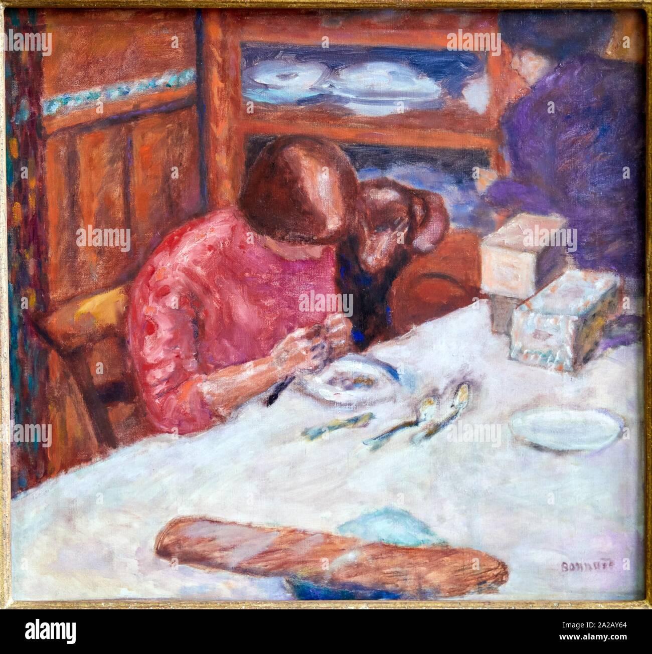 """""""""""""""La femme au chat"""""""" dit aussi """"""""Le chat exigeant"""""""", 1912, Pierre Bonnard, Musée d'Orsay, Paris, France, Europe Stock Photo"""