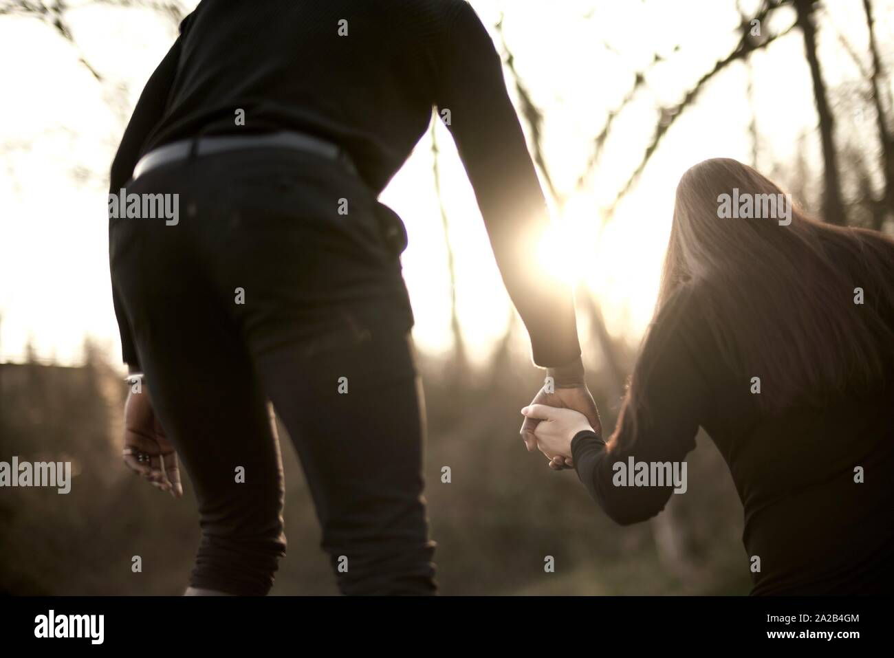 couple outdoors, in Munich, Germany Stock Photo